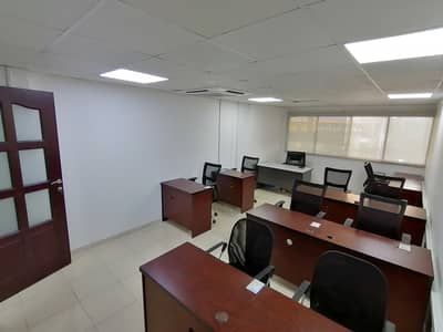 WELL SPACED NEAT AND CLEAN OFFICE AVAILABLE WITH FURNITURE