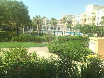 1 Bedroom Apartment for Sale in Green Community, Dubai - Corner Unit Large Layout - Garden view.