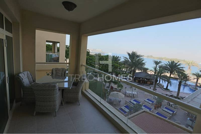 10 Full Sea and Burj View | Furnished Option