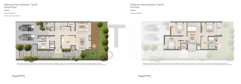 13 3 Bed semi-type B | on the pool and park