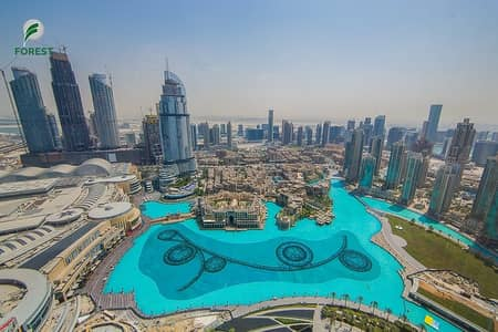 Furnished 2 BR with Full Fountain View Burj Khalifa
