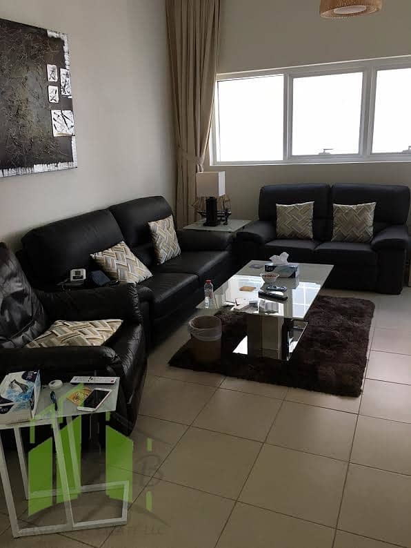 Fully furnished and clean 2 Bedroom flat with free parking for rent in Ajman One Towers