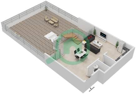 المخططات الطابقية لتصميم النموذج 3B-B شقة 3 غرف نوم - الراحة لوفتس