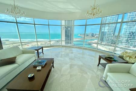 4 Bedroom Apartment for Sale in Dubai Marina, Dubai - 4 Beds | Upgraded | Panoramic Sea Views