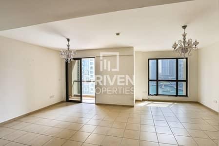 شقة 2 غرفة نوم للايجار في جميرا بيتش ريزيدنس، دبي - Vacant 2 Bed Apartment with Full Marina View