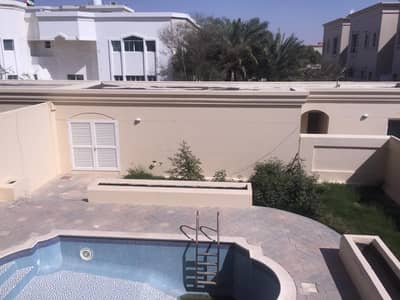 6 Bedroom Villa for Rent in Between Two Bridges (Bain Al Jessrain), Abu Dhabi - Excellent 6 BR villa with private pool and garden