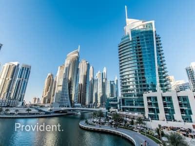 شقة 3 غرف نوم للايجار في دبي مارينا، دبي - Spectacular view from balcony | Finest 3 b/r