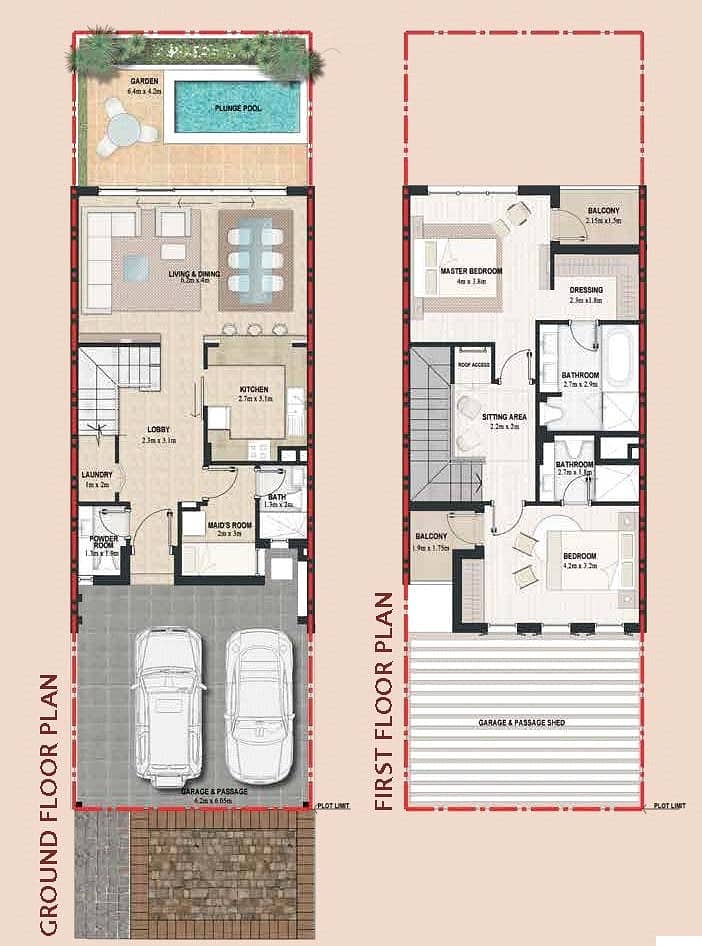 19 Plaza Backing | 2 Bed + Maids | Brand New