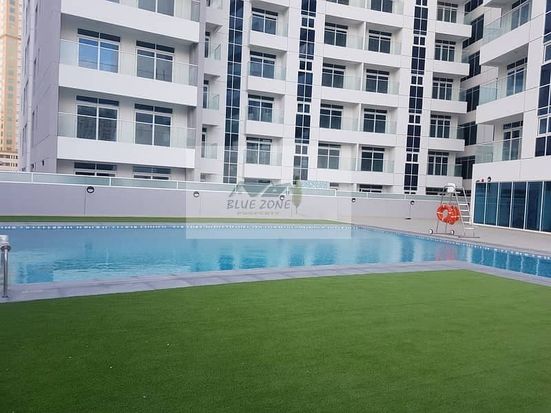BRAND NEW 30 DAYS FREE 1BHK EXCELLENT FINISHING BIG BALCONIES POOL GYM 45K