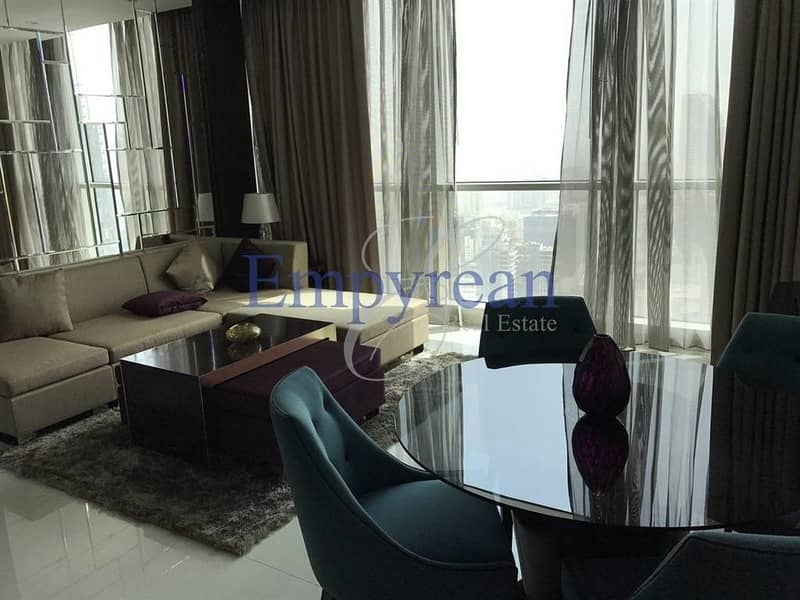 Furnished 1br HIgh Floor amazing views of down town and lake