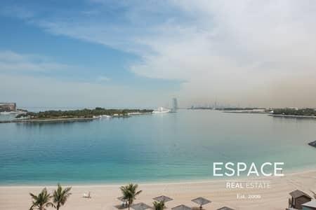 شقة 1 غرفة نوم للايجار في نخلة جميرا، دبي - Full Sea View - Beach Access Included