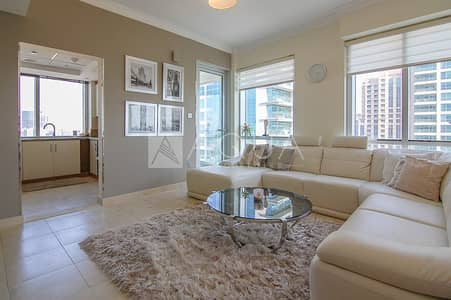 شقة 1 غرفة نوم للايجار في ذا فيوز، دبي - Furnished | Golf view | 15 April | Chiller Free