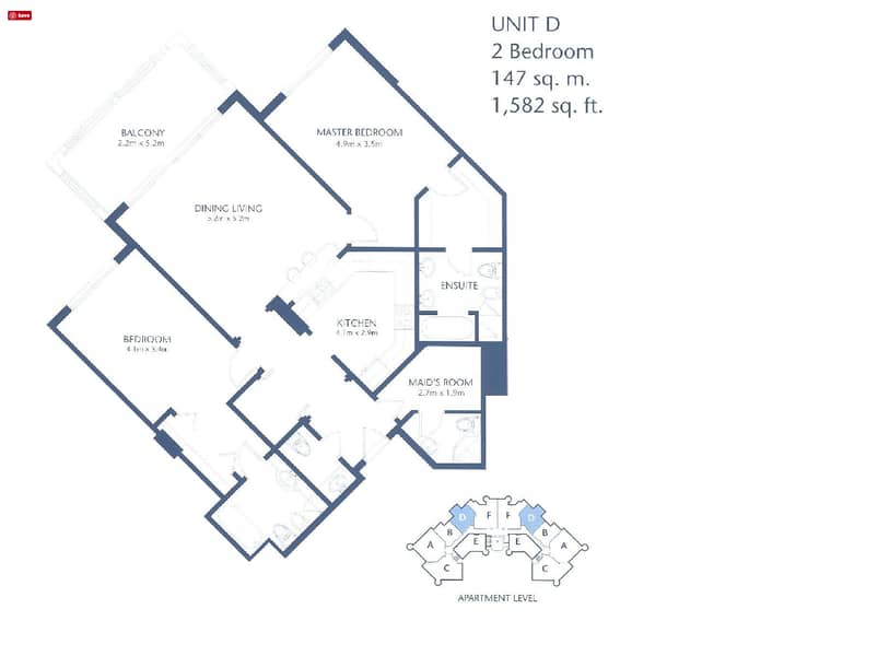 10 2 Bedrooms | Exclsuive | Upgraded Unit