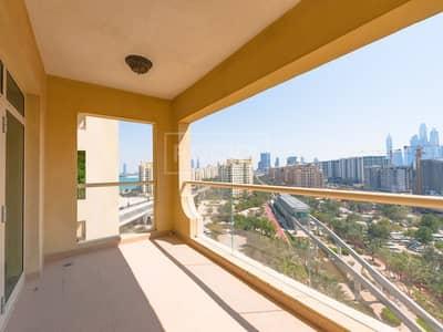 شقة 2 غرفة نوم للايجار في نخلة جميرا، دبي - Beach access | Multiple Cheques | Palm Jumeirah