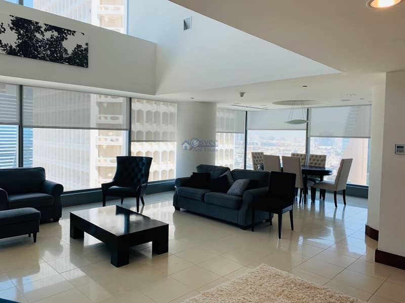 Reduced Rent Luxuary 2Br Duplex Apartment for Rent  in Jumeirah Living