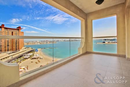 شقة 2 غرفة نوم للايجار في نخلة جميرا، دبي - 2 Bed Plus Maids-D Type On The Right Hand Side Of The Shoreline