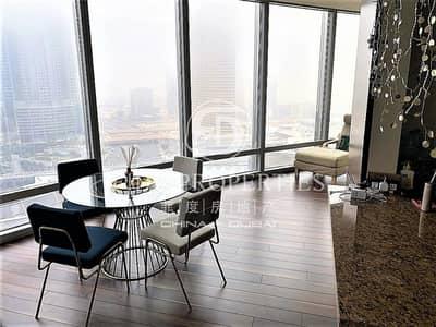 شقة 2 غرفة نوم للبيع في وسط مدينة دبي، دبي - Fully Furnished   Middle Floor   Sheikh Zayed View