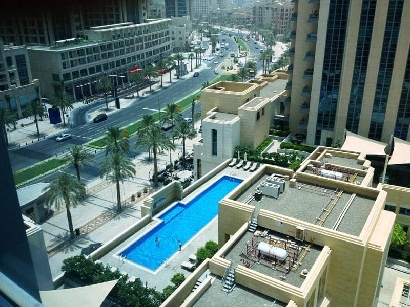 Claren | 1 Bed + Study | Boulevard & Pool View
