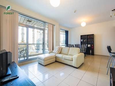 فلیٹ 1 غرفة نوم للايجار في دبي مارينا، دبي - Fully Furnished 1 BR with Marina View | Vacant