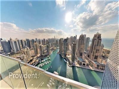 1 Bedroom Flat for Rent in Dubai Marina, Dubai - High Standard Living Luxury 1 B/R Full Marina View