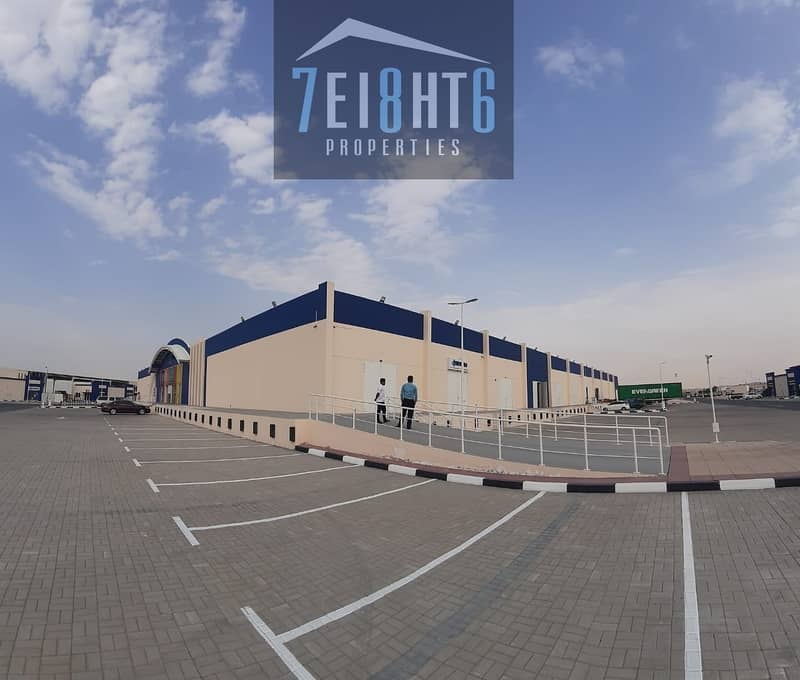 8 400 sq ft high quality  BRAND NEW whouse for storage + high ceilings for rent In Al Warsan 3
