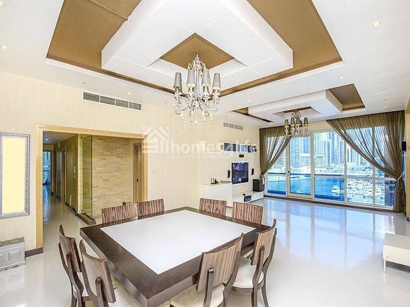 2 100% Full Marina View | Luxury Furnished