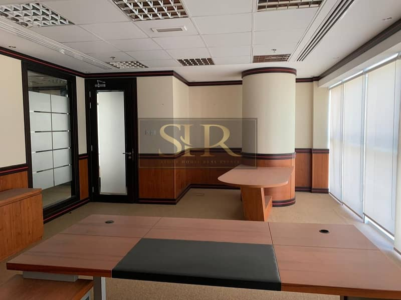 Fitted Furnished Office For Rent With Balcony