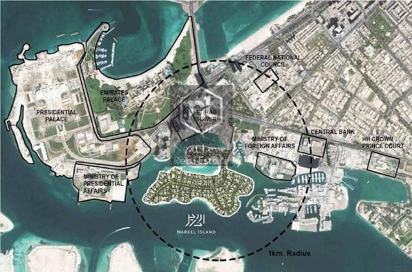 2 Nareel Island Plots by Aldar Properties at Abu Dhabi