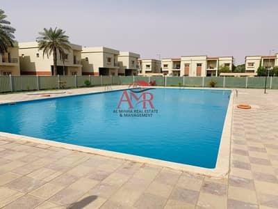 فیلا 4 غرف نوم للايجار في المرخانية، العین - Amazing Villa Compound | 4 Payments | Shared Swimming pool & Gym