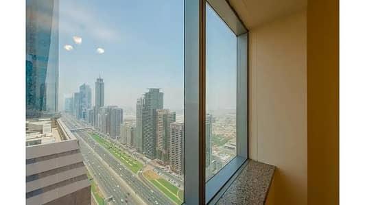 شقة 3 غرف نوم للايجار في شارع الشيخ زايد، دبي - شقة في برج القرن 21 شارع الشيخ زايد 3 غرف 95000 درهم - 4545262