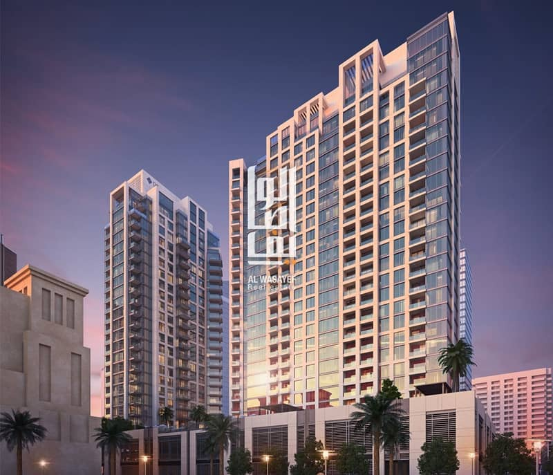 Luxurious 2 BR in Downtown with 7 years  installments -0% Commission