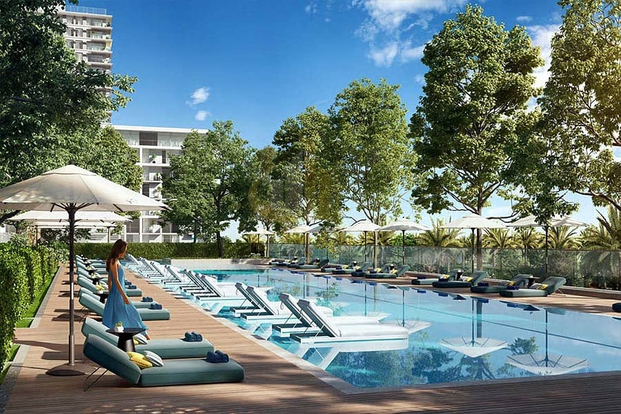 Golf and Park view facing apartments. | Live your best life in the green heart of Dubai. - Offplan