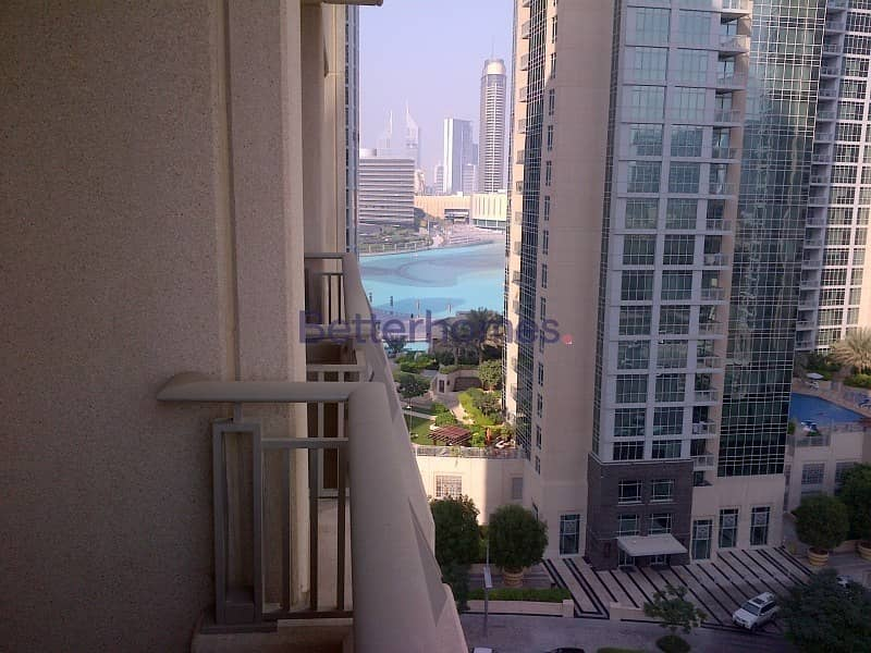 1 Bed | Bright | Partial Fountain View