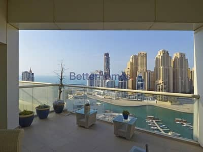 بنتهاوس 4 غرف نوم للبيع في دبي مارينا، دبي - 4 BR Penthouse I Sea View I Private Pool