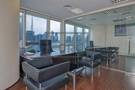 مکتب  للبيع في الخليج التجاري، دبي - Tenanted | Investor Option | Furnished |W/  Burj Khalifa View