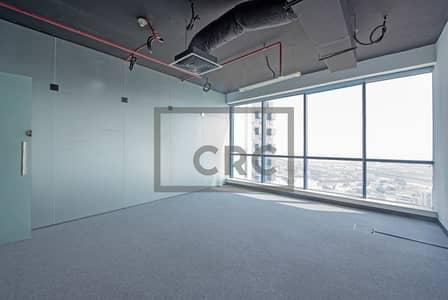 مکتب  للايجار في أبراج بحيرات الجميرا، دبي - Fitted Ready to Move Partitioned High Floor