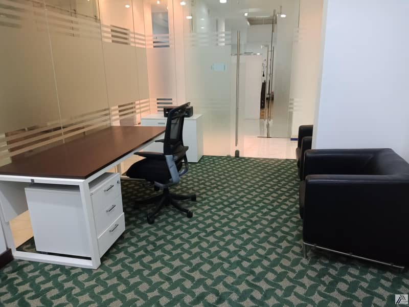 EXECUTIVE FULLY FURNISHED & SERVICED OFFICE (EJARI ONE YEAR )