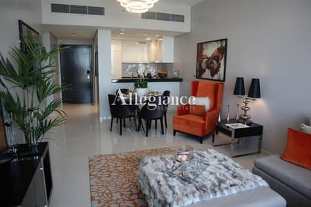 2 Bedroom Flat for Sale in DAMAC Hills (Akoya by DAMAC), Dubai - Take pleasure living in furnished splendid studio with | 50% DLD waiver