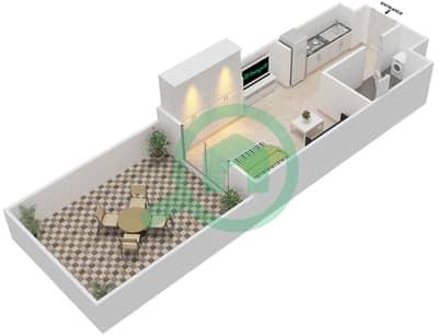 المخططات الطابقية لتصميم النموذج 1 شقة 1 غرفة نوم - بيلا روز