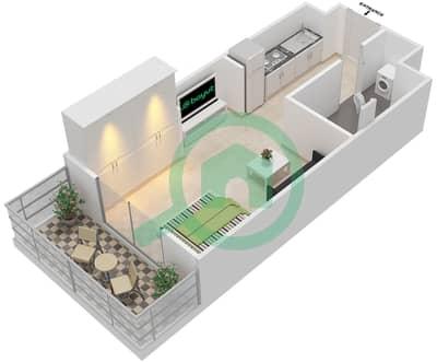 المخططات الطابقية لتصميم النموذج 4 شقة 1 غرفة نوم - بيلا روز