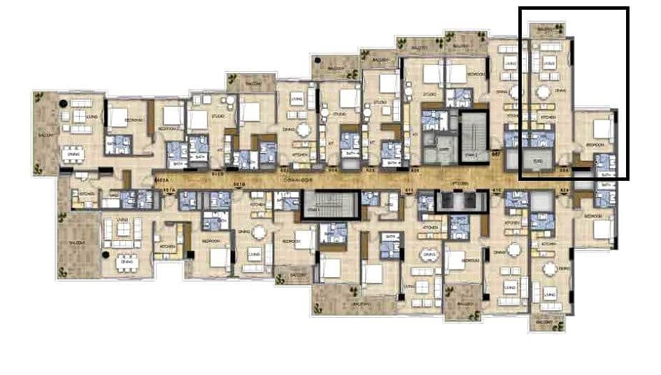10 New | 974 Sq. Ft. | One Bed | High Floor