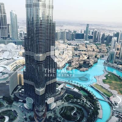 4 Bedroom Penthouse for Rent in Downtown Dubai, Dubai - 4 BR Penthouse | High Floor | Full Burj and Fountain View