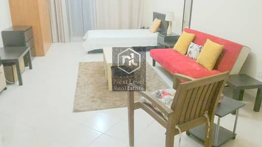 Studio for Rent in Dubai Production City (IMPZ), Dubai - HEAVENLY FURNISHED STUDIO WITH BALCONY AND PARKING IN IMPZ