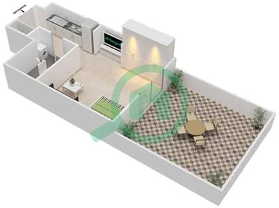 المخططات الطابقية لتصميم النموذج 7 شقة 1 غرفة نوم - بيلا روز