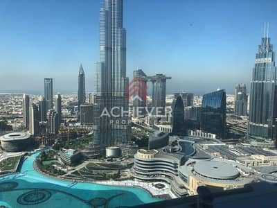 1 Bedroom Apartment for Rent in Downtown Dubai, Dubai - All inclusive! Full Burj and Fountain one bed