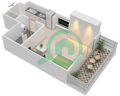 المخططات الطابقية لتصميم النموذج 8 شقة 1 غرفة نوم - بيلا روز