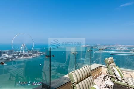 بنتهاوس 4 غرف نوم للبيع في جميرا بيتش ريزيدنس، دبي - 4BR Duplex Penthouse | Best Terrace 100% Sea View