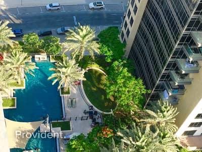 فلیٹ 1 غرفة نوم للايجار في وسط مدينة دبي، دبي - 1Bed on High Floor with Community Park View