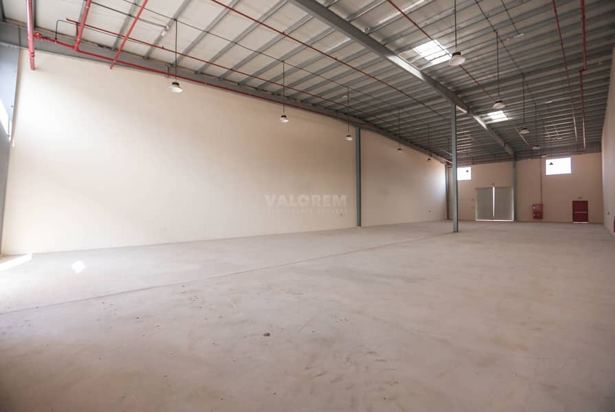 2 Brand New 300Kw Connected Power Warehouse for rent in UAQ