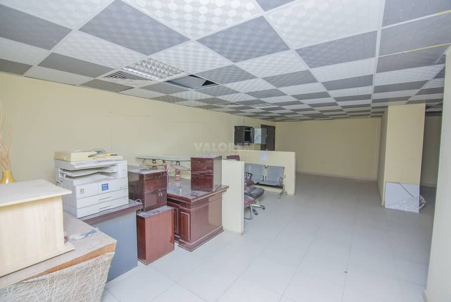 Next to Gym/ 4400 sqft/1 month free/AED 55 psqft.